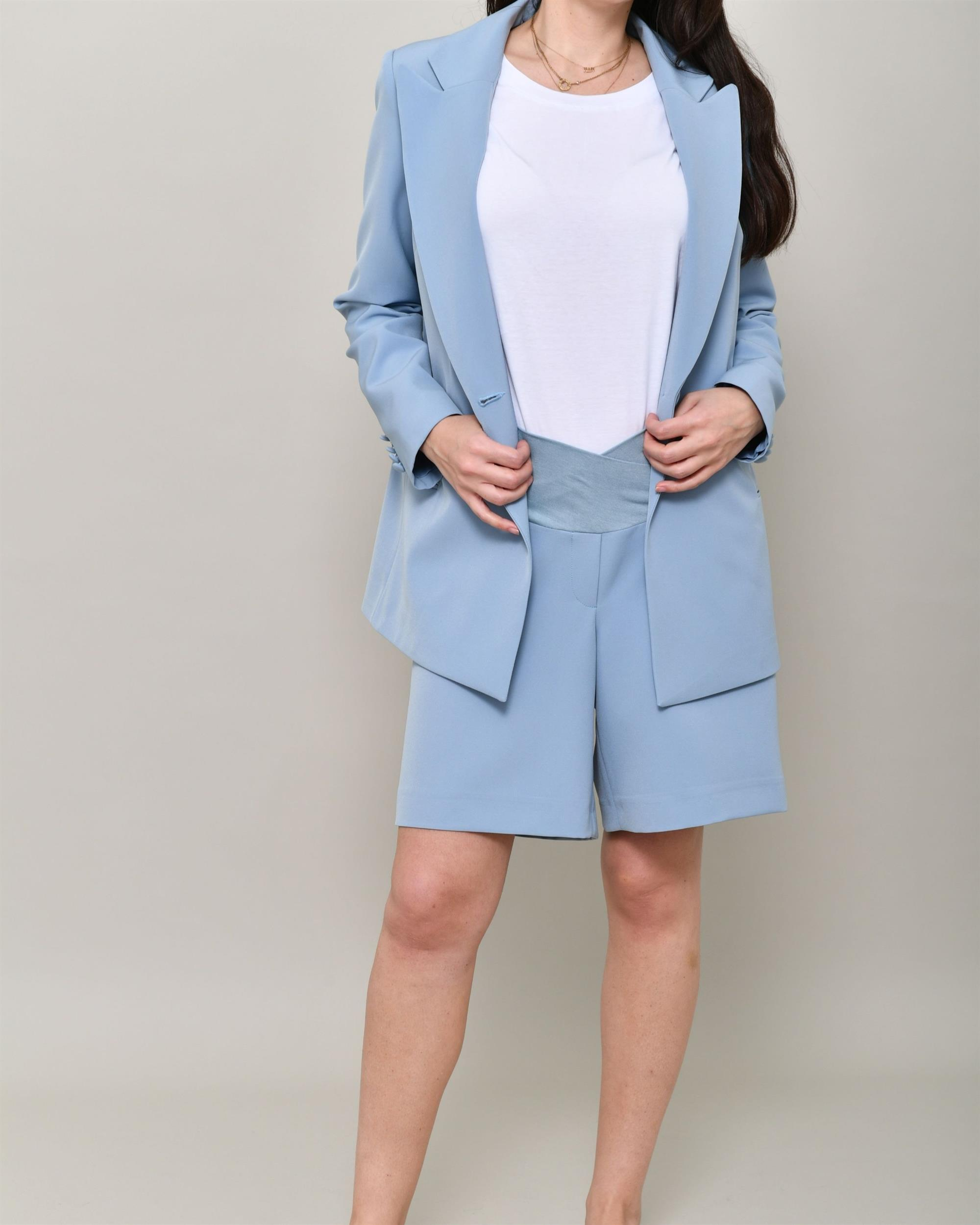 xl blue vest short set minimal bright blue matching set 90s blue 2 piece gaucho shorts set romper set minimalist summer suit